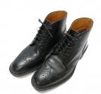 JOHNSTON&MURPHY(ジョンストン&マーフィ)の古着「ウィングチップブーツ」|ブラック