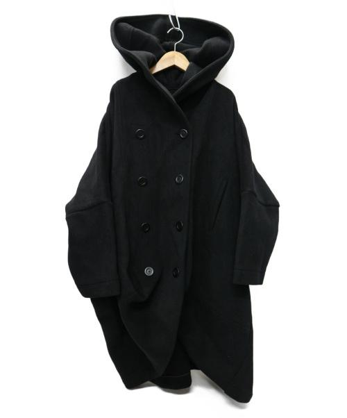 LIMI feu(リミフゥ)LIMI feu (リミフゥ) ドルマンスリーブ ワイドコクーンフーデッドコート ブラック サイズ:S LP-C02-104の古着・服飾アイテム