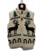 CANADIAN SWEATER(カナディアンセーター)の古着「別注カウチンベスト」 ベージュ