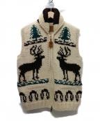 CANADIAN SWEATER(カナディアンセーター)の古着「別注カウチンベスト」|ベージュ