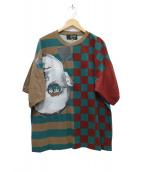 Jean Paul GAULTIER(ジャンポールゴルチェ)の古着「デザインフォトプリントTシャツ」|グリーン×レッド