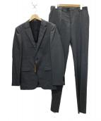 COMME CA MEN(コムサメン)の古着「シャドーピンストライプスーツ」|グレー