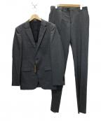 COMME CA MEN(コムサメン)の古着「シャドーピンストライプスーツ」 グレー