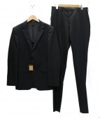 COMME CA MEN(コムサメン)の古着「シャドーピンストライプスーツ」|ブラック