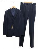 COMME CA MEN(コムサメン)の古着「シャドーピンストライプスーツ」|ネイビー