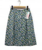 Sally Scott(サリースコット)の古着「テキスタイルスカート」|グリーン