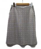 Sally Scott(サリースコット)の古着「テキスタイル スカート」|グレー