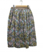 Sally Scott(サリースコット)の古着「テキスタイルスカート」|スカイブルー