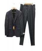 COMME CA MEN(コムサメン)の古着「CERRUTIジョノバワイドストライプスーツ」|グレー