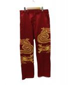 Supreme(シュプリーム)の古着「Dragon Work Pant パンツ」 レッド