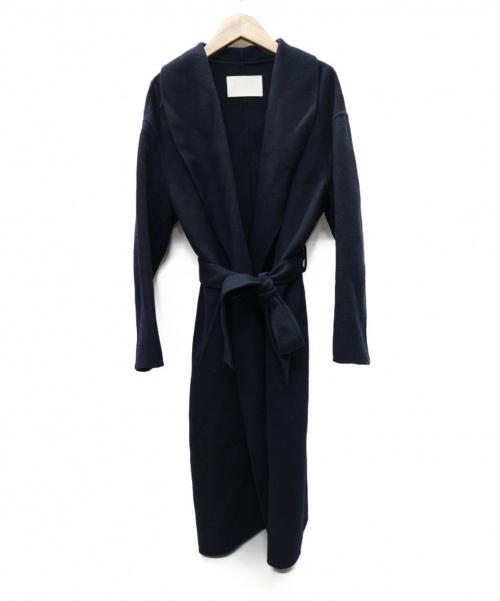 BALLSEY(ボールジィ)BALLSEY (ボールジィ) ウールリバー ショールカラーガウンコート ネイビー サイズ:36 トゥモローランドの古着・服飾アイテム