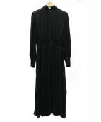 ANAYI(アナイ)の古着「キュプラージョゼットボウタイワンピース」|ブラック