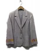 LEONARD(レオナール)の古着「シルクMIX 2Bジャケット」|ピンク