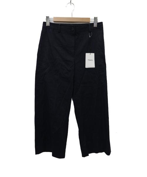 theory(セオリー)theory (セオリー) Organic Crunch Wash Fluid Pant ネイビー サイズ:4 未使用品  の古着・服飾アイテム