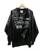 SHAREEF(シャリーフ)の古着「ENAMEL BIG PO シャツ」|ブラック
