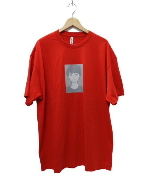 ONAIR×KYNE(オンエアー × キネ)ONAIR×KYNE (オンエアー × キネ) Woman S/SL Tee  プリントTシャツ レッド サイズ:XLの古着・服飾アイテム