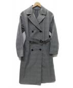 K.T KIYOKO TAKASE(ケーティーキヨコタカセ)の古着「ロングトレンチコート」|グレー