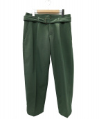 KUON(クオン)の古着「TAPERED PANTS パンツ」|グリーン