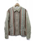 COMME des GARCONS SHIRT(コムデギャルソンシャツ)の古着「ストライプジプブルゾン」|ベージュ