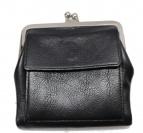 YOHJI YAMAMOTO(ヤマモトヨウジ)の古着「レザーがま口 ウォレット 財布」|ブラック