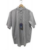 KAPTAIN SUNSHINE(キャプテン サンシャイン)の古着「プルオーバーシャツ」|ホワイト×ブラウン