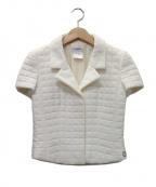 CHANEL()の古着「キルティングジャケット」 アイボリー