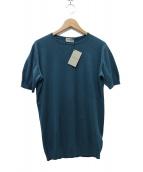 JOHN SMEDLEY(ジョンスメドレ)の古着「BELDEN T-SHIRT CN SS ニットTシャツ」|スカイブルー