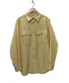AURALEE(オーラリー)の古着「Silk Cotton Cloth Big Shirtシャツ」|イエロー