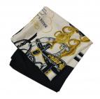 HERMES(エルメス)の古着「brides de gala カレ90 シルクスカーフ」|ホワイト×ネイビー