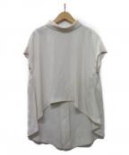 SHE TOKYO(シートーキョー)の古着「Laula ivory バックジップブラウス」|ホワイト