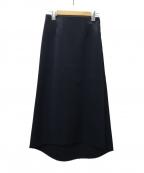 SHE TOKYO(シートーキョー)の古着「カットオフロングタイトスカート」|ブラック