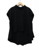 SHE TOKYO(シートーキョー)の古着「Laula ivory バックジップブラウス」|ブラック