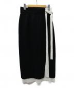 SHE TOKYO(シートーキョー)の古着「Jennifer black ラインプリーツスカート」|ブラック