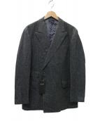 RING JACKET(リングジャケット)の古着「ダブルツイードジャケット」|チャコールグレー