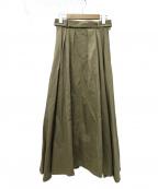 foufou(フーフー)の古着「trench flare skirt スカート」 ベージュ