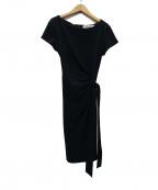 DIANE VON FURSTENBERG()の古着「Andy Half Sleeve Dress ワンピース」|ブラック