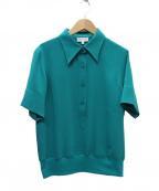 agnes b(アニエスベー)の古着「プルオーバーシャツ」|グリーン