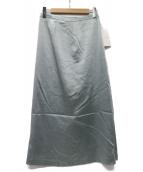 TOMORROW LAND(トゥモローランド)の古着「トリアセテートポリエステル マーメイドロングスカート」|ラトブルー