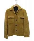 JACKROSE(ジャックローズ)の古着「ゴートスエードレザージャケット」|ベージュ