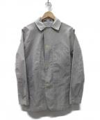POST OALLS(ポストオーバーオールズ)の古着「シアサッカージャケット」|ホワイト×グレー