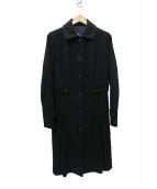 BURBERRY LONDON(バーバリーロンドン)の古着「アンゴラ混 シングルコート」|ブラック