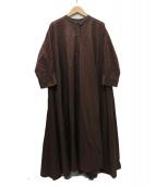 mizuiro-ind(ミズイロインド)の古着「Aライン テントワンピース」|ブラウン