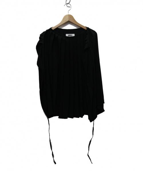 MM6 Maison Margiela(エムエムシックス メゾンマルジェラ)MM6 Maison Margiela (エムエムシックス メゾンマルジェラ) MARGIELA PLEATED TOP ブラウス ブラック サイズ:- 19FW S52NC0188の古着・服飾アイテム
