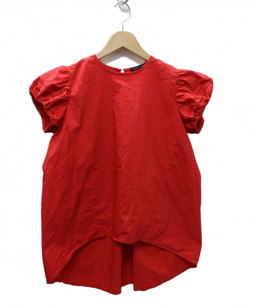 YOKO CHAN(ヨーコチャン)YOKO CHAN (ヨーコチャン) パフスリーブブラウス レッド サイズ:36 19SS  ycb-119-125の古着・服飾アイテム