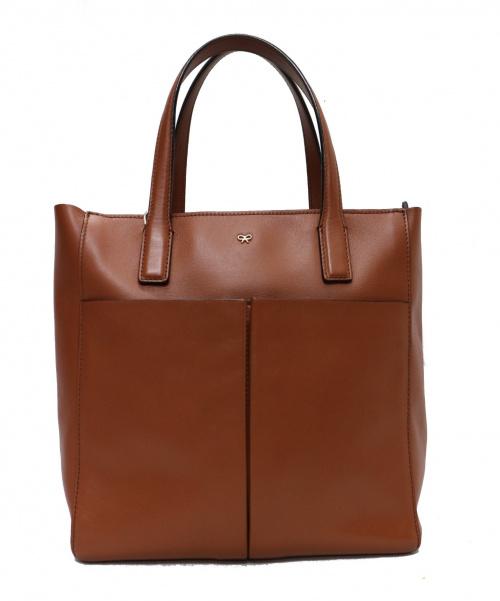 ANYA HINDMARCH(アニヤハインドマーチ)ANYA HINDMARCH (アニヤハインドマーチ) NEVIS ZIPPED MINI トートバッグの古着・服飾アイテム