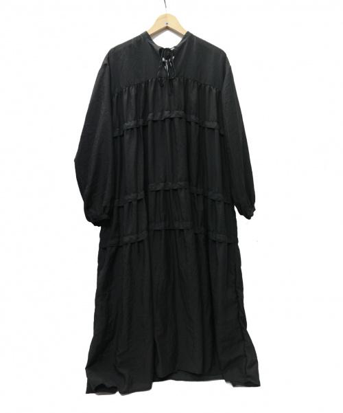 STYLE MIXER(スタイルミキサー)STYLE MIXER (スタイルミキサー) ティアードギャザーワンピース ブラック サイズ:FREE 未使用品 20年モデル ペチコート付 500DS130-1460の古着・服飾アイテム