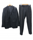 UNIVERSAL LANGUAGE(ユニバーサルランゲージ)の古着「REDA生地 ストライプ2Bスーツ」|グレー