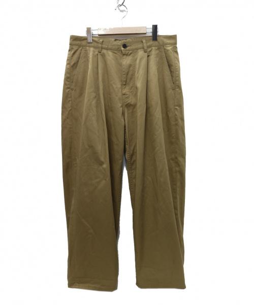 Graphpaper(グラフペーパー)Graphpaper (グラフペーパー) Chino Two Tuck Pants パンツ ベージュ サイズ:2  gu192-40048 19年モデルの古着・服飾アイテム