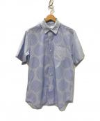 GANRYU(ガンリュウ)の古着「半袖ドットシャツ」 ブルー