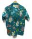 DUKE KAHANAMOKU (デューク カハナモク) アロハシャツ「Suck Em Up !」 ブルー サイズ:M 未使用品 20SS完売色 DK38084:7800円
